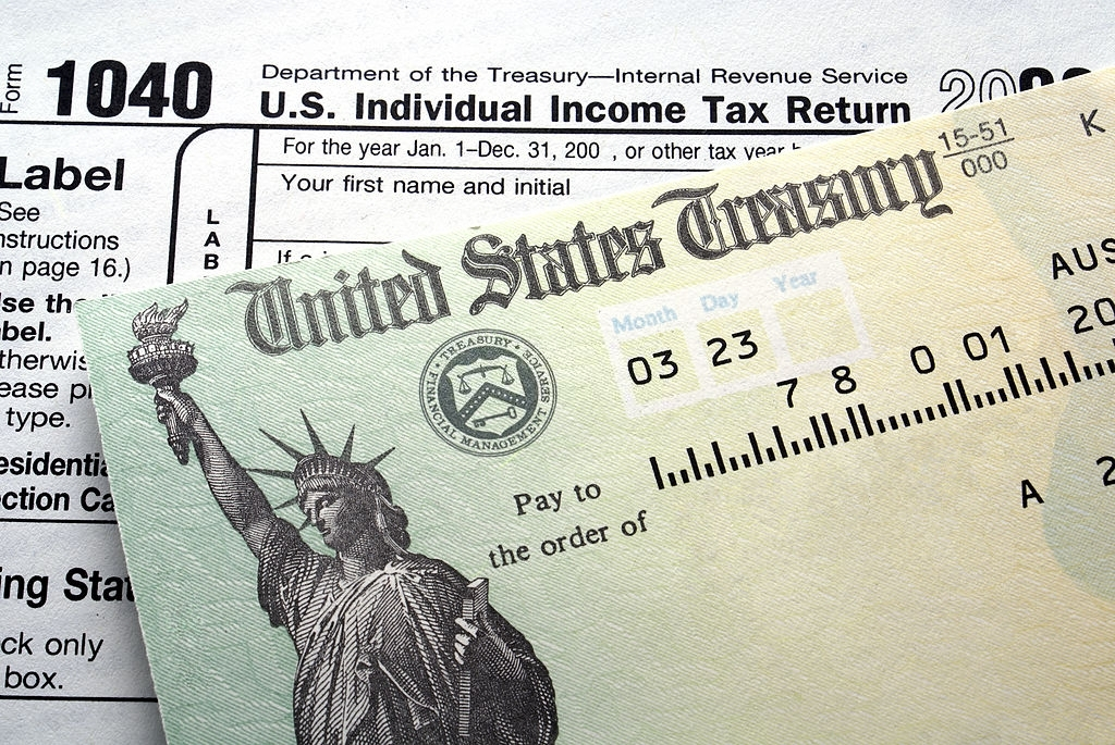 US department of Treasury state and income taxes